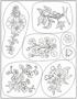 Clear stamps Bloemen   per stuk