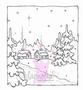 Winter Night Background   per stuk
