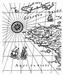 Map / Landkaart achtergrond stempel   per stuk