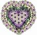 Victorian Lace Heart   per stuk