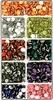 Acryl plaksteentjes  rond 9 kleuren   per doosje