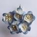 Antique Blue / White Ø +/- 2,5 cm   setje van 5