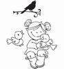 Eline's Toddlers Meisje met vogels   per stuk