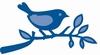 vogeltje op tak   per stuk