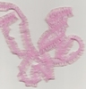 Roze  met glans  1,5 cm   per meter