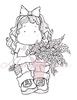 Tilda with Lilac's   per stuk
