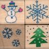 Kerstset met vier stempeltjes