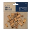 Bare Basics Wooden Bobbins   per set