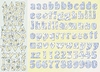 Alfabet baby blue scrappapier   per vel