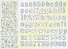 Alfabet baby blue scrappapier