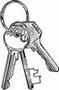 Sleutelbos met sleutels   per stuk