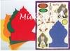 Fakir set van vier kaarten, enveloppen en knipvellen