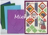 Heks set van vier kaarten, enveloppen en knipvellen