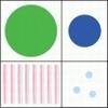 Geometric stempelset   setje van 4