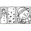 Sneewpop met sneeuwvlokken