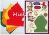 Kabouters  set van vier kaarten, enveloppen en knipvellen