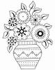 Stamp 'n' Stich  Vaas met bloemen    per stuk
