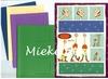 Langnek set kaarten, enveloppen en knipvellen