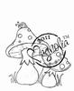 Mushroom with Snail   per stuk