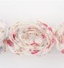 Flower Ribbons White, pink, bleu   per zakje