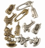 Bedeltjes baby 6x Antique brass & 6x Silver