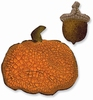 mini Acorn & Pumpkin   per set