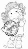 Tilda with many Hearts mini