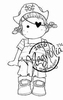 Pirate Tilda mini   per stuk