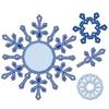 Snowflake Pendants   setje van 7