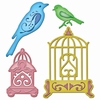 Birds Sanctuary   setje van 4