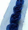 Flower Ribbons Dark Blue