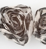 Flower Ribbons zwart en beige big   per zakje