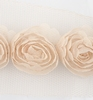 Flower Ribbons beige big   per zakje