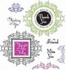 Vintage Floral Labels   per set