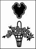 Bloemenmand en label