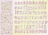 Alfabet Babyroze scrappapier   per vel