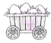 Wagon with Eggs   per stuk