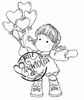 Tilda with Heart Balloons