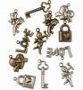 Bedeltjes Love  6x Antique Brass & 6x Silver