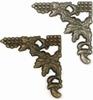 Hoeken   4x Antique Brass & 4x Silver