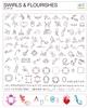 Swirls & Flourishes Image card   per stuk