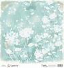 Turquoise Heart Flowers  15 x 15 cm   per vel