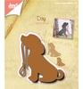 Silhouette hond met riem
