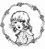 Vintage Ladies  Flower Girl   per stuk