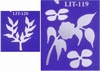 Bladeren en bloemen   per set