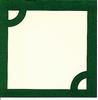 Insteek passepartout Groen cirkel   per setje