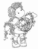 Tilda with Winding Flowers   per stuk