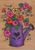 Gieter met bloemen   per stuk
