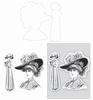 Lady with Hat set   per set