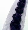 Flower Ribbons Dark Purple   per zakje